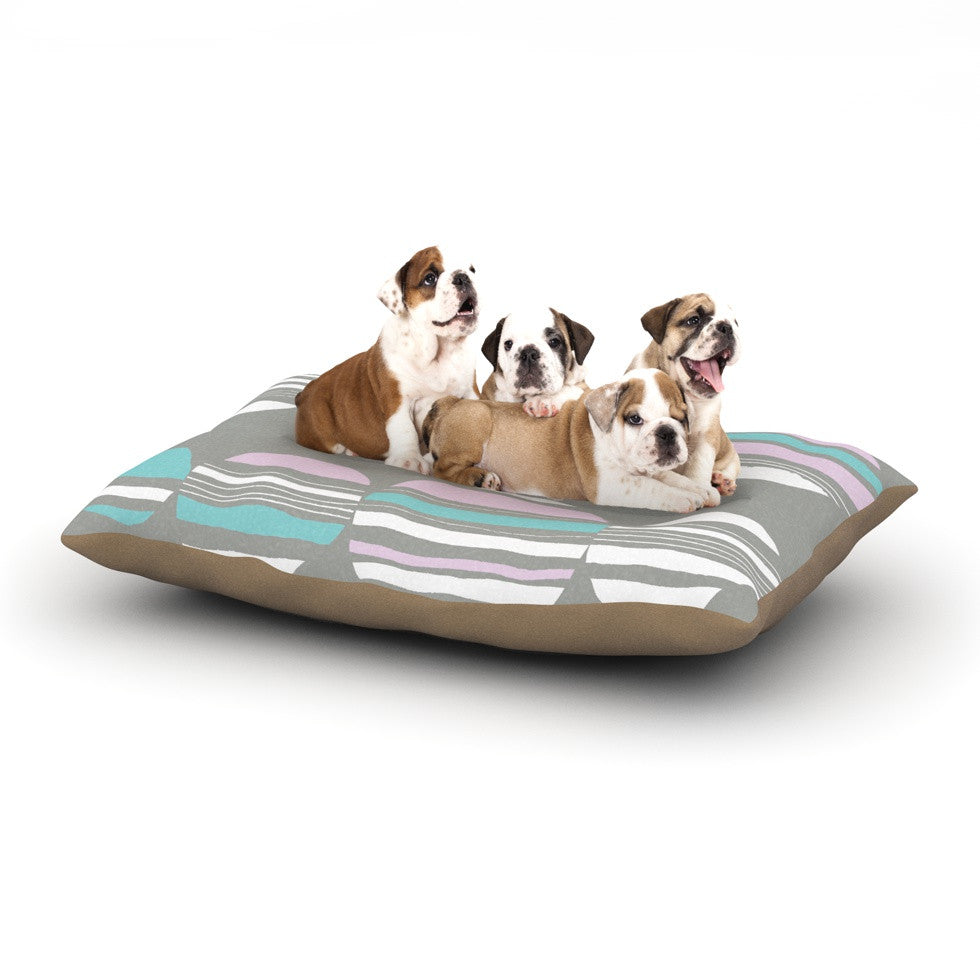 "Emine Ortega ""Retro Circles Pastel"" Dog Bed - KESS InHouse  - 1"