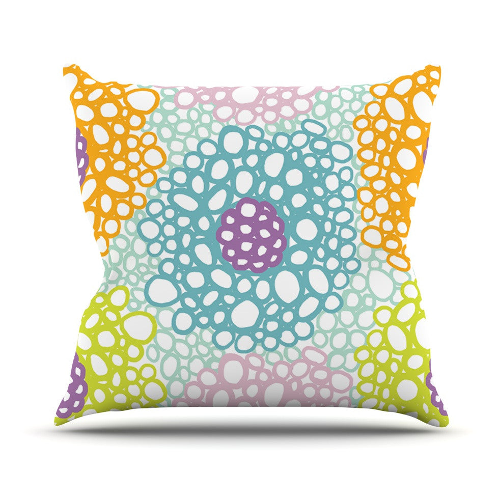 "Emine Ortega ""Bubbly"" Throw Pillow - KESS InHouse  - 1"