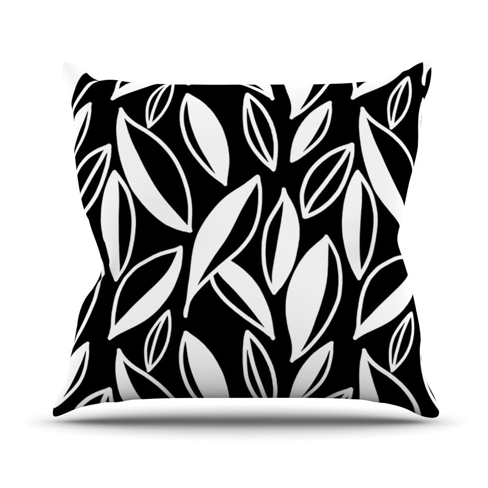 "Emine Ortega ""Leaving Black and White"" Throw Pillow - KESS InHouse  - 1"