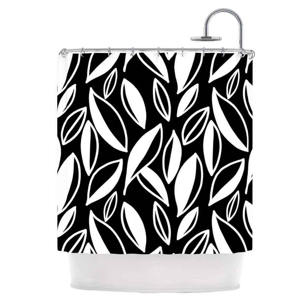 "Emine Ortega ""Leaving Black and White"" Shower Curtain - KESS InHouse"