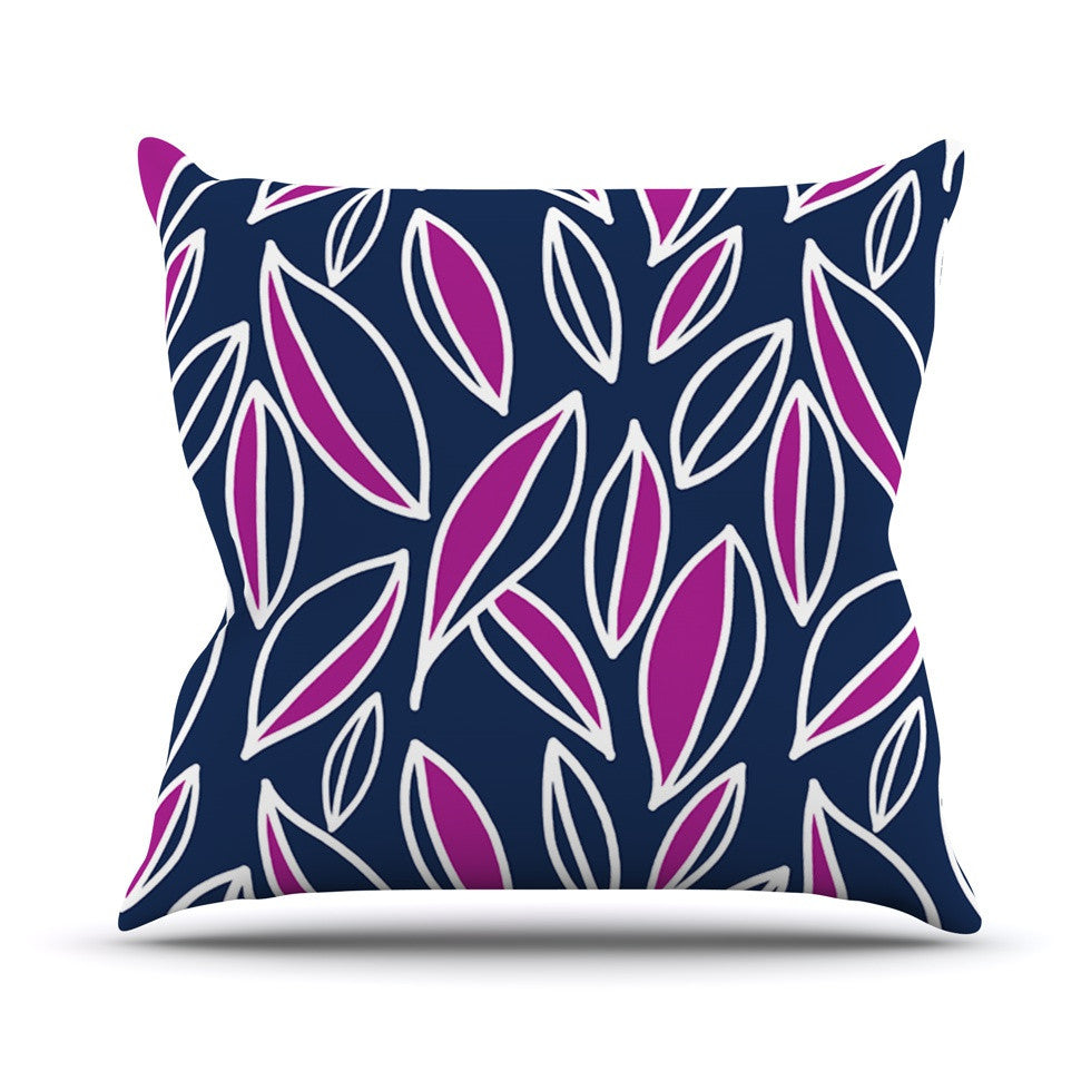 "Emine Ortega ""Leaving Magenta"" Outdoor Throw Pillow - KESS InHouse  - 1"