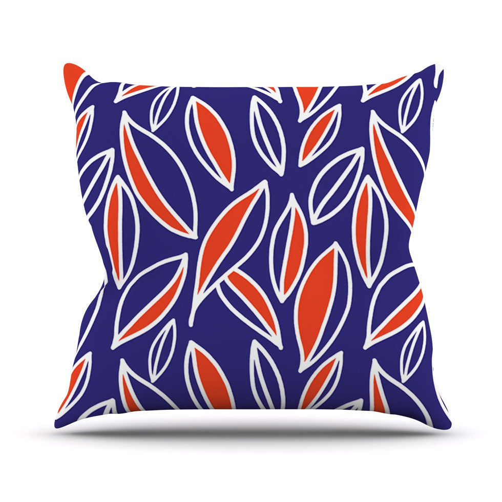 "Emine Ortega ""Leaving Orange"" Outdoor Throw Pillow - KESS InHouse  - 1"