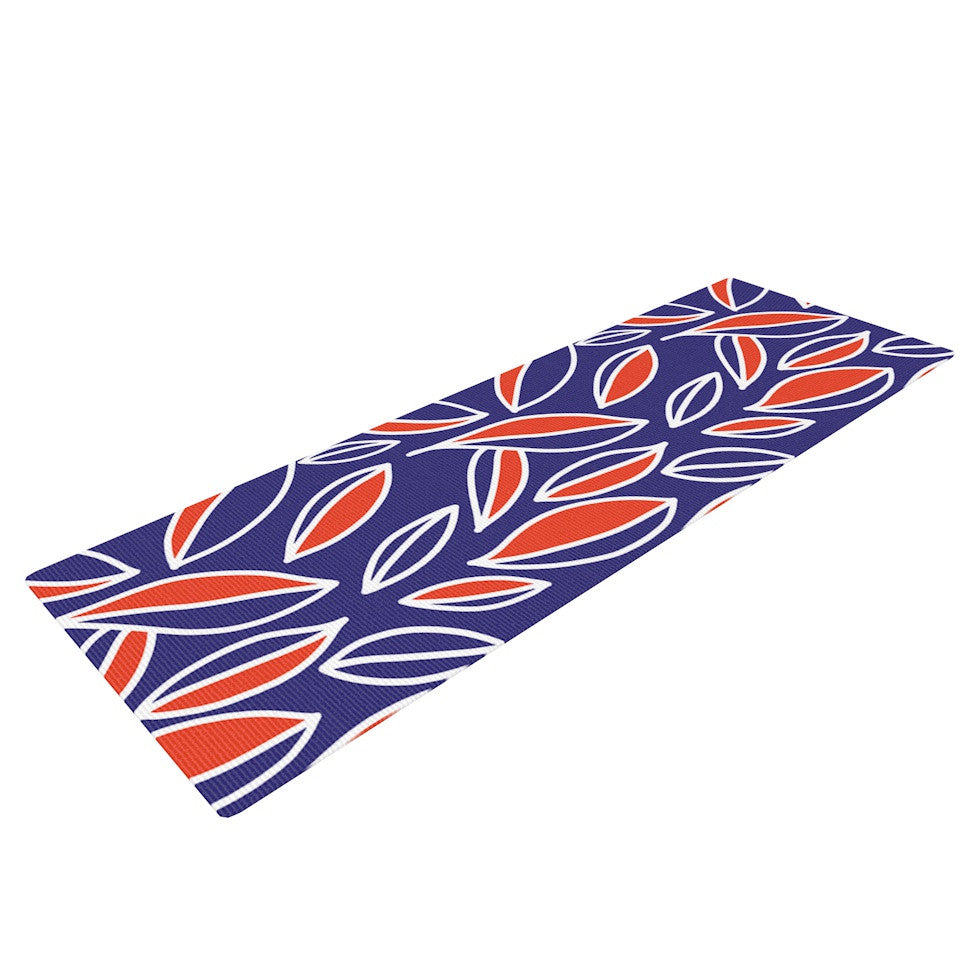 "Emine Ortega ""Leaving Orange"" Yoga Mat - KESS InHouse  - 1"