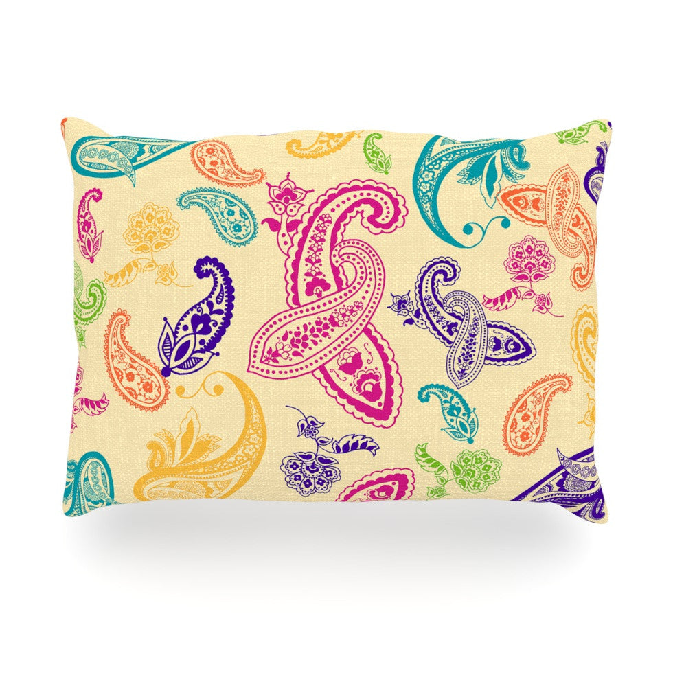 "Emine Ortega ""Namaste"" Floral Abstract Oblong Pillow - KESS InHouse"