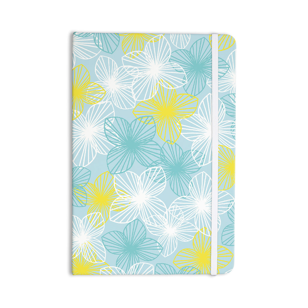 "Emine Ortega ""Aqua Sunshine"" Blue Teal Everything Notebook - KESS InHouse  - 1"