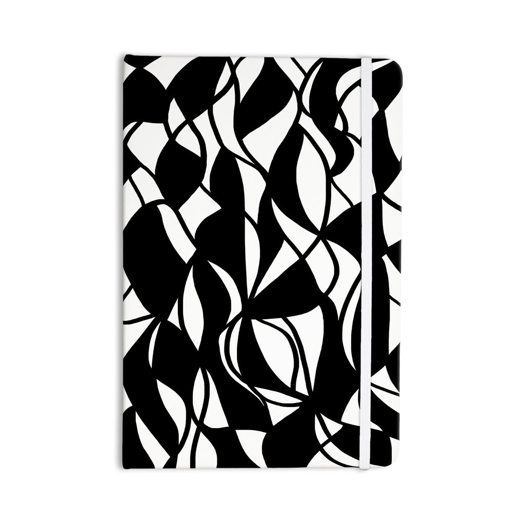 "Emine Ortega ""Sinuous"" Black White Everything Notebook - KESS InHouse  - 1"