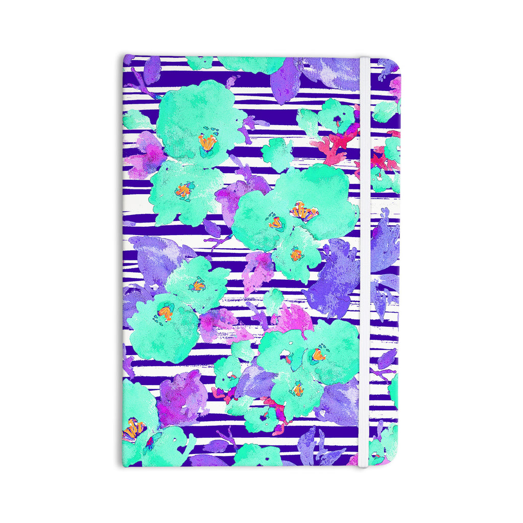 "Emine Ortega ""Cherry Blossom"" Teal Purple Everything Notebook - KESS InHouse  - 1"