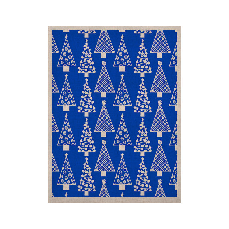 "Emine Ortega ""Jolly Trees Blue"" Royal KESS Naturals Canvas (Frame not Included) - KESS InHouse  - 1"