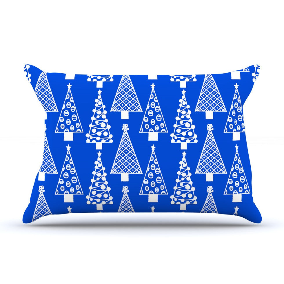 "Emine Ortega ""Jolly Trees Blue"" Royal Pillow Sham - KESS InHouse"