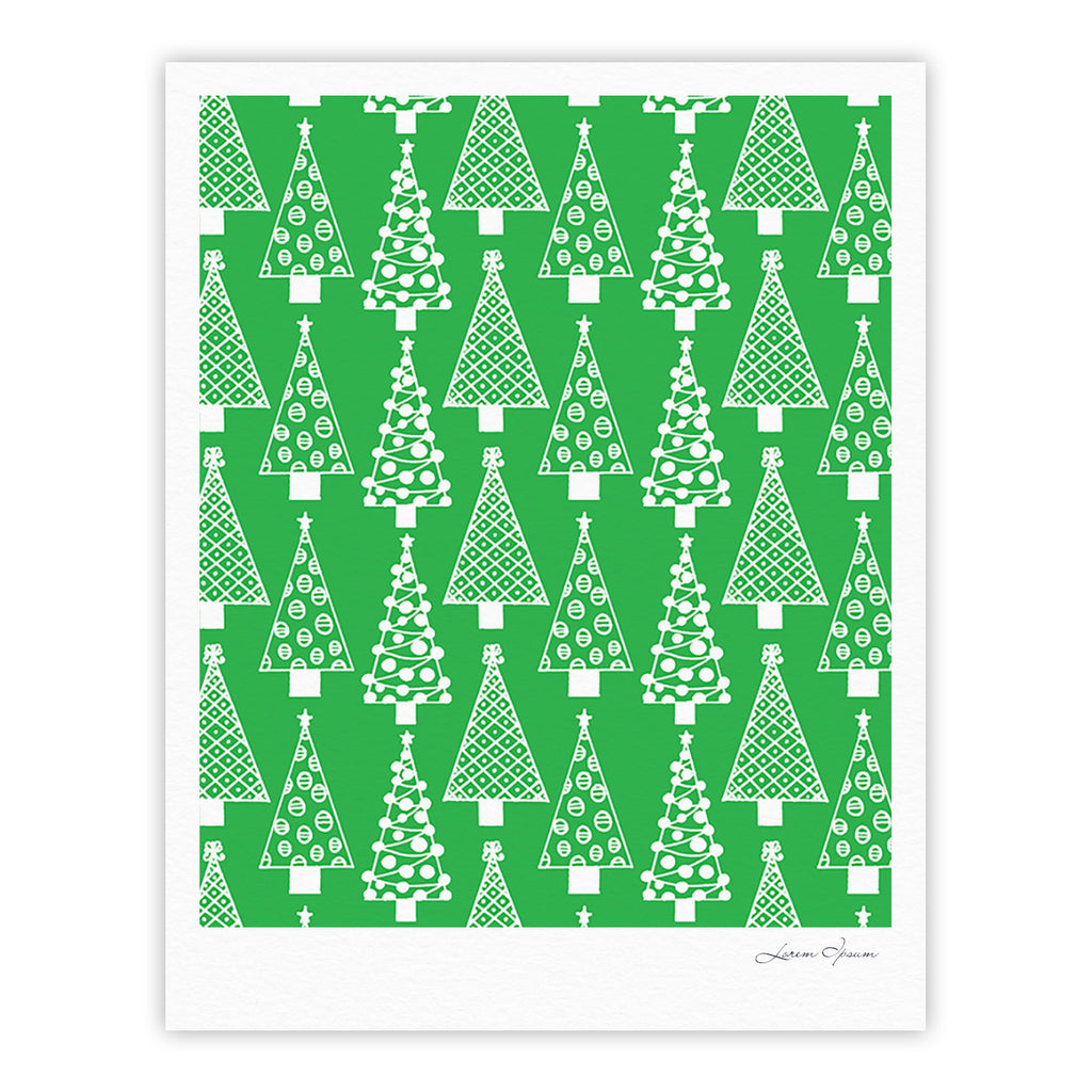 "Emine Ortega ""Jolly Trees Green"" Forest Fine Art Gallery Print - KESS InHouse"