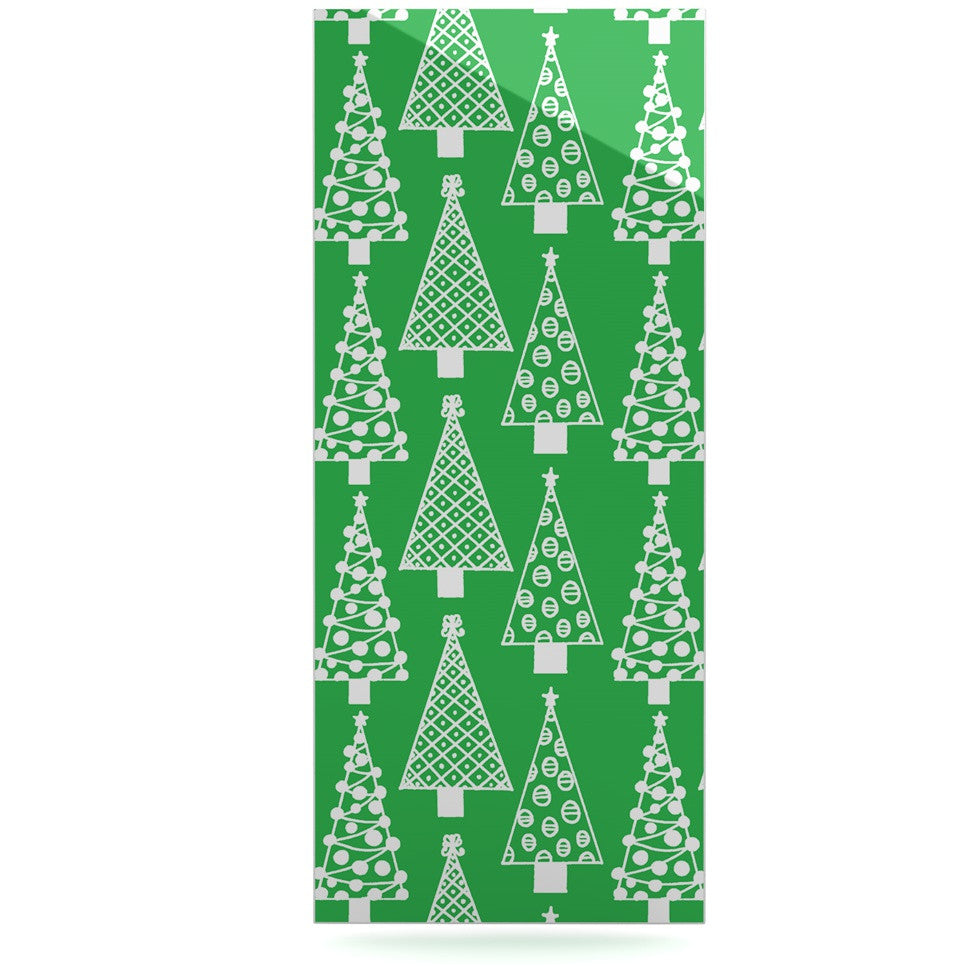 "Emine Ortega ""Jolly Trees Green"" Forest Luxe Rectangle Panel - KESS InHouse  - 1"