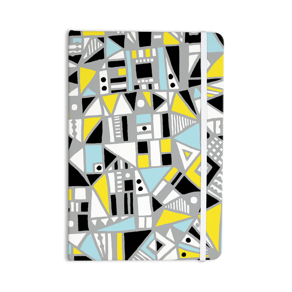 "Emine Ortega ""Fun Geo Too"" Aqua Yellow Everything Notebook - KESS InHouse"