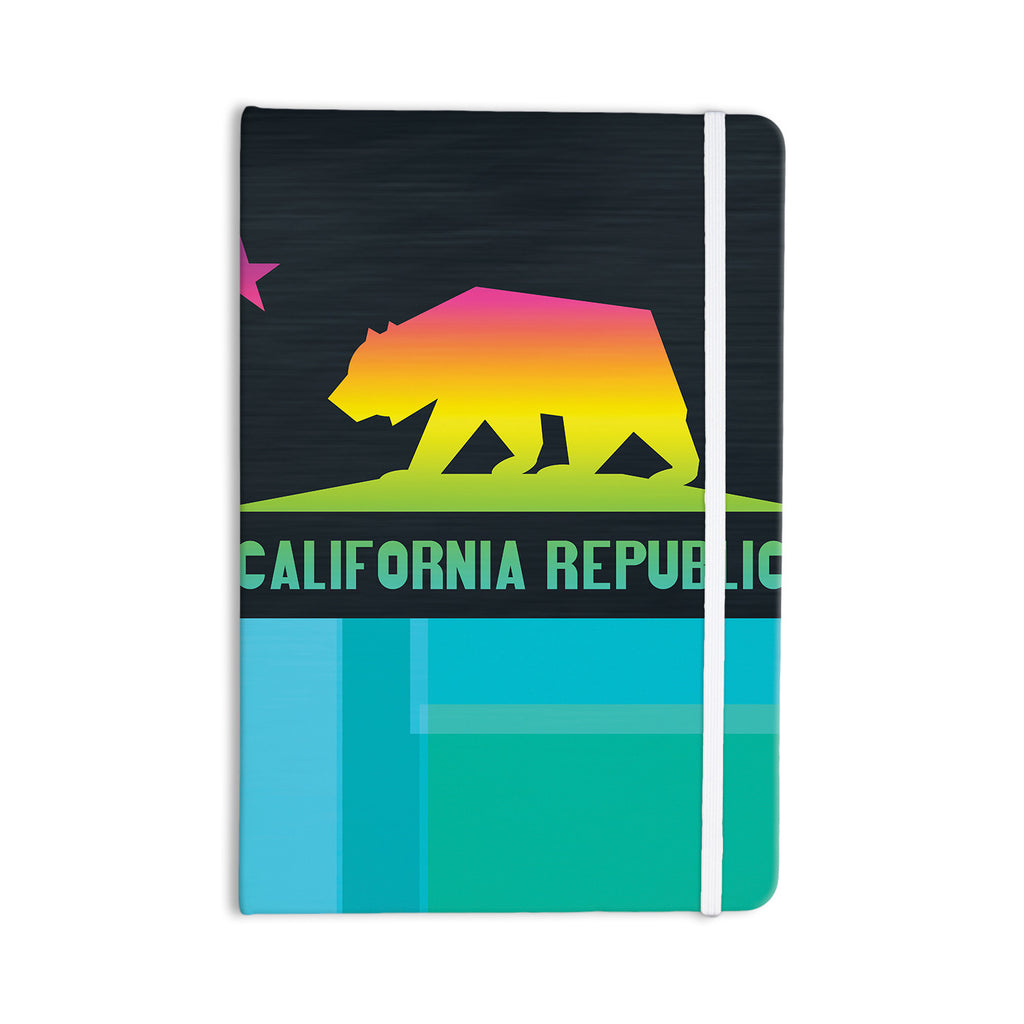 "Fimbis ""California"" Multicolor Teal Everything Notebook - KESS InHouse  - 1"