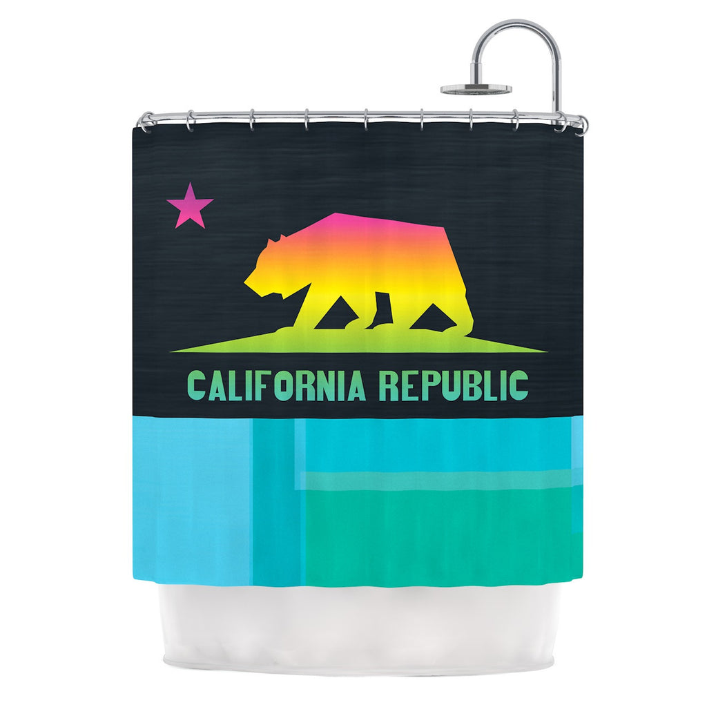 California By Fimbis Shower Curtain