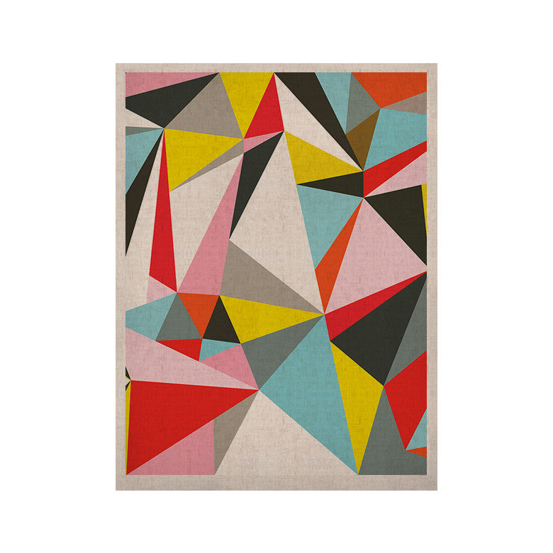 "Fimbis ""Mosaik"" Multicolor Geometric KESS Naturals Canvas (Frame not Included) - KESS InHouse  - 1"