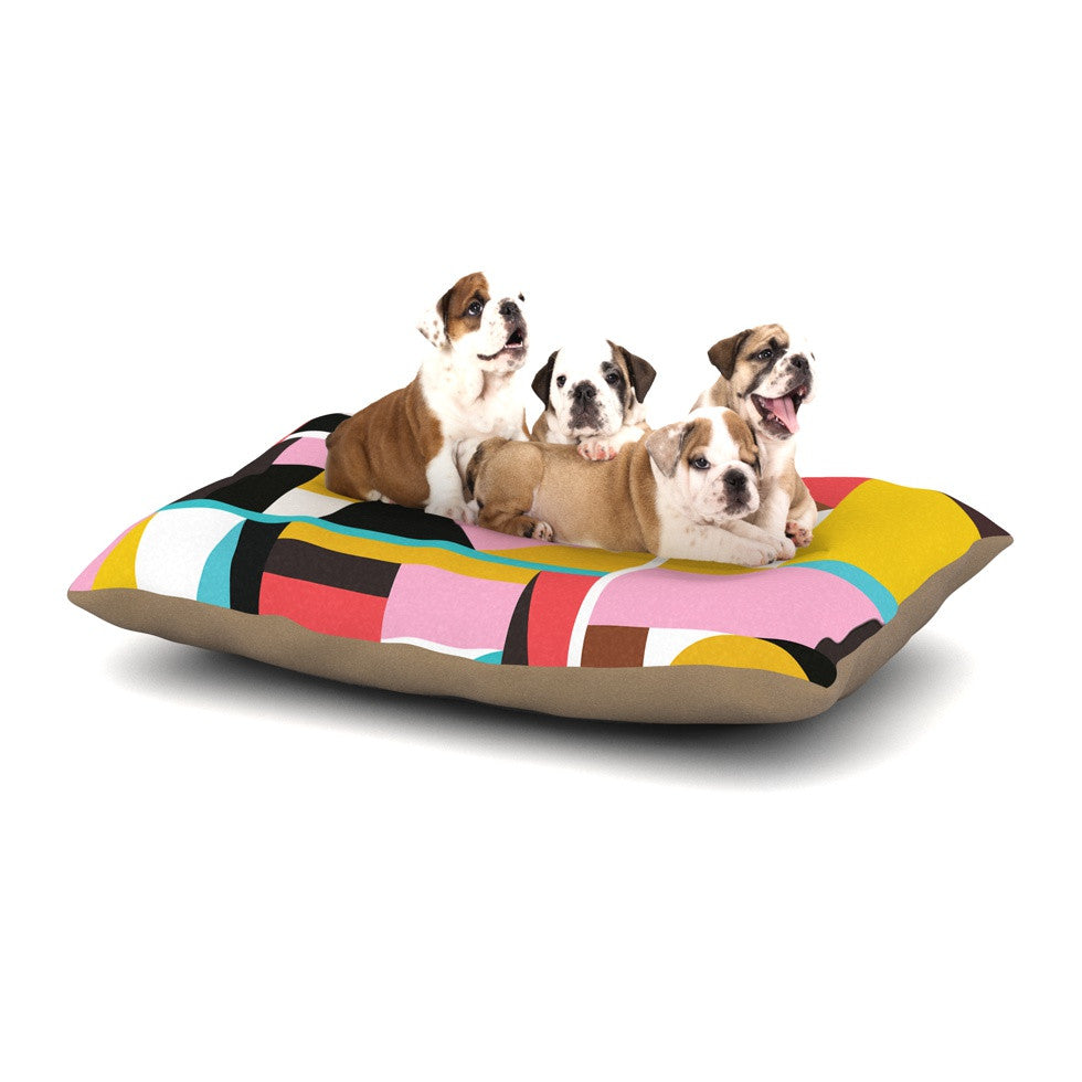 "Fimbis ""Kaku To"" Abstract Geometric Dog Bed - KESS InHouse  - 1"
