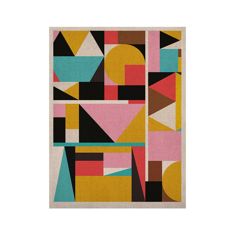 "Fimbis ""Kaku To"" Abstract Geometric KESS Naturals Canvas (Frame not Included) - KESS InHouse  - 1"