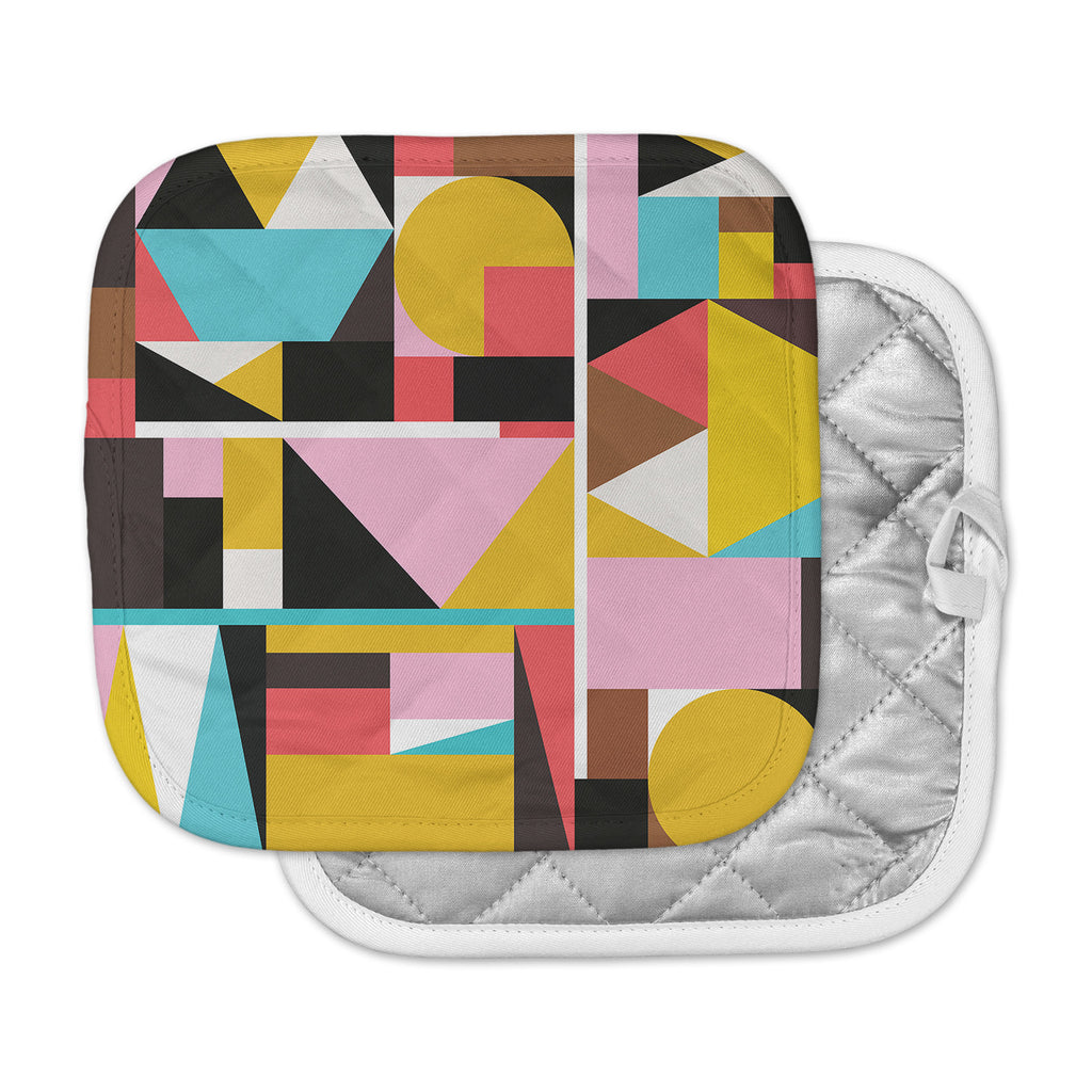 "Fimbis ""Kaku To"" Abstract Geometric Pot Holder"