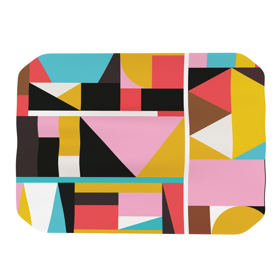 "Fimbis ""Kaku To"" Abstract Geometric Place Mat - KESS InHouse"