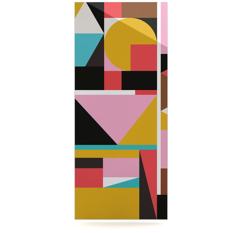 "Fimbis ""Kaku To"" Abstract Geometric Luxe Rectangle Panel - KESS InHouse  - 1"