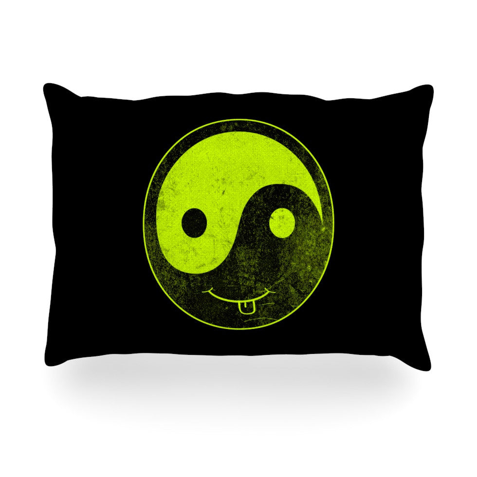 "Frederic Levy-Hadida ""Bad Ass Ying Yang"" Oblong Pillow - KESS InHouse"