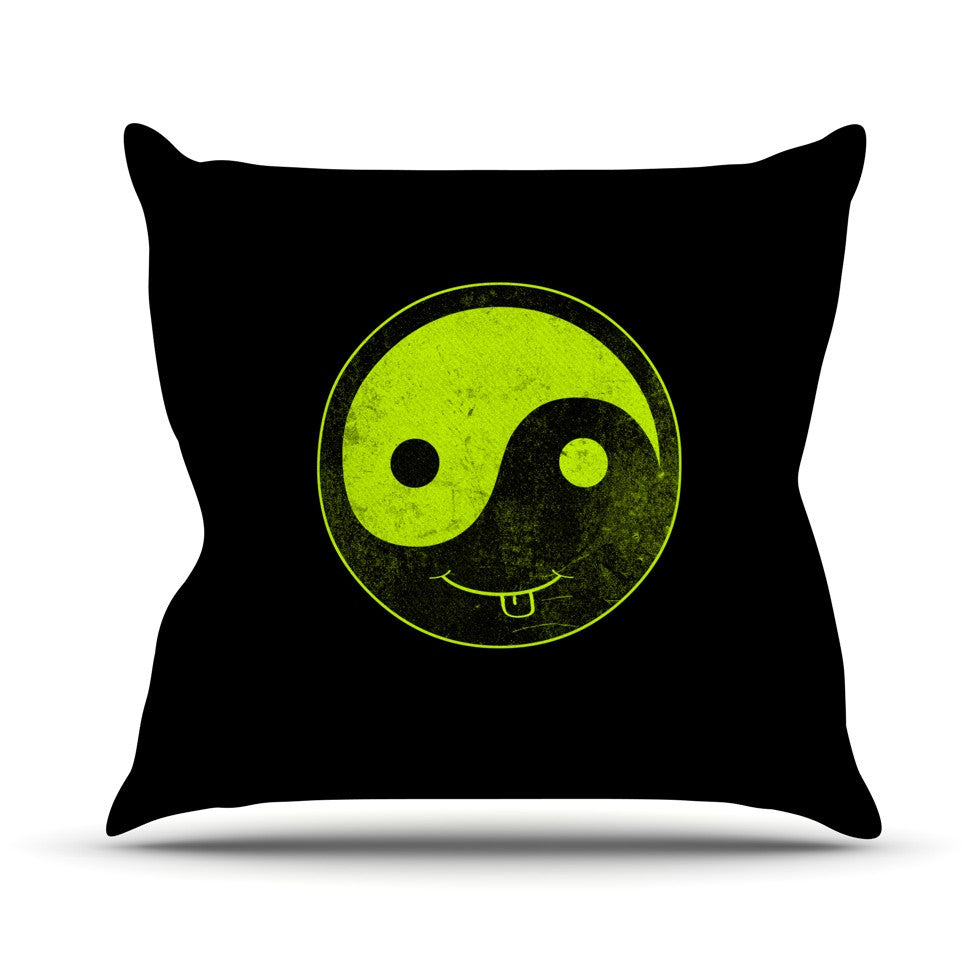 "Frederic Levy-Hadida ""Bad Ass Ying Yang"" Throw Pillow - KESS InHouse  - 1"