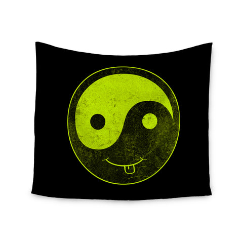 "Frederic Levy-Hadida ""Badass Yin Yang""  Wall Tapestry - Outlet Item"