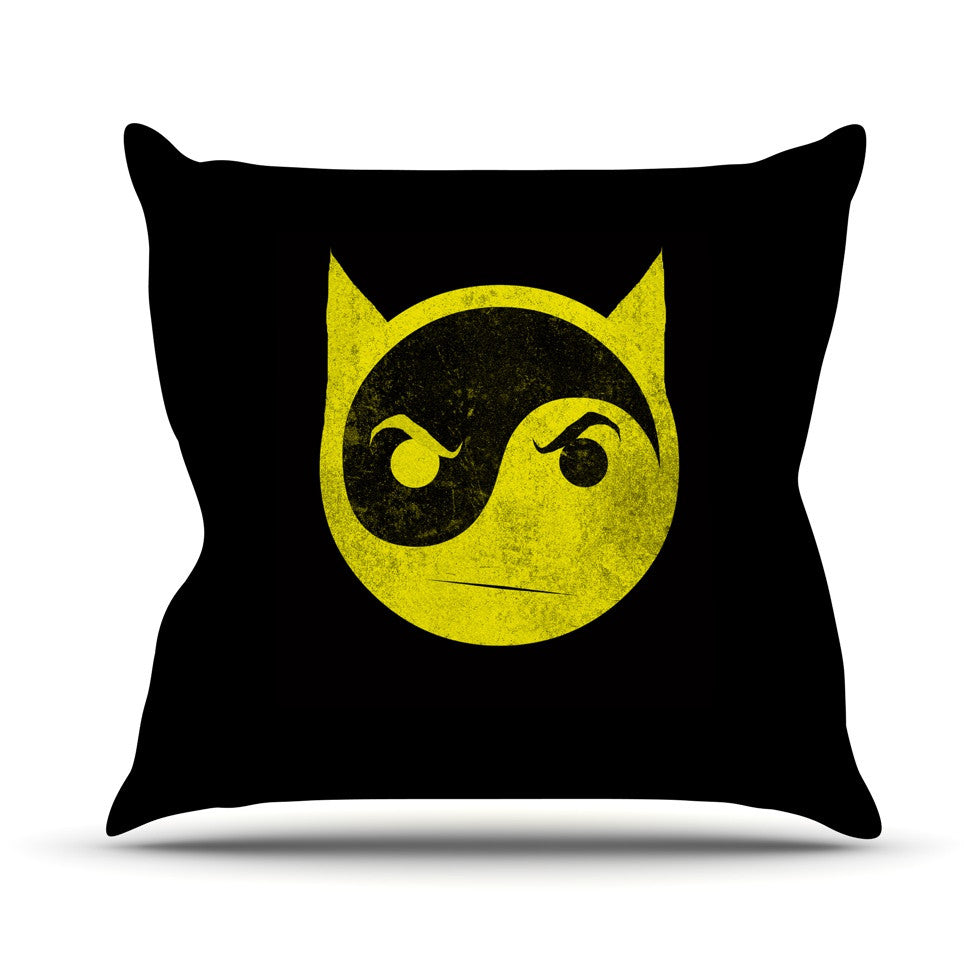 "Frederic Levy-Hadida ""Bat Yin"" Throw Pillow - KESS InHouse  - 1"