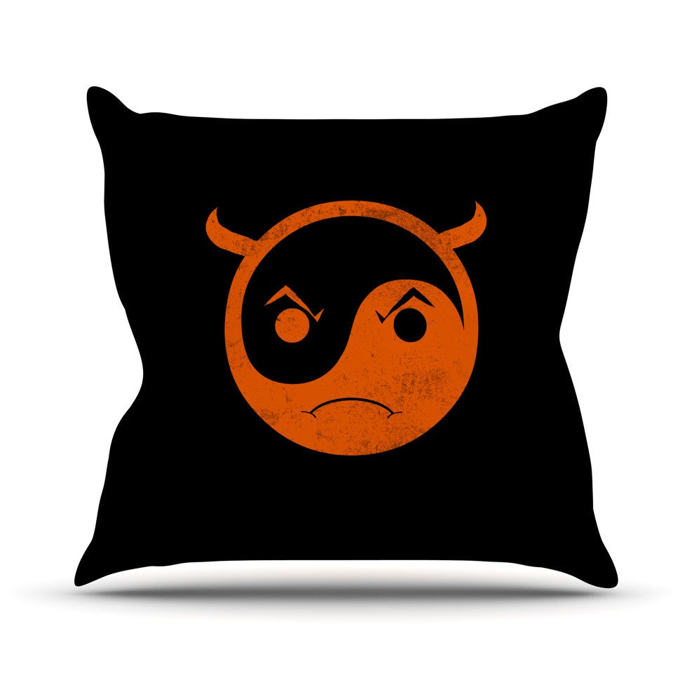 "Frederic Levy-Hadida ""Yin Yang Diablo"" Outdoor Throw Pillow - KESS InHouse  - 1"