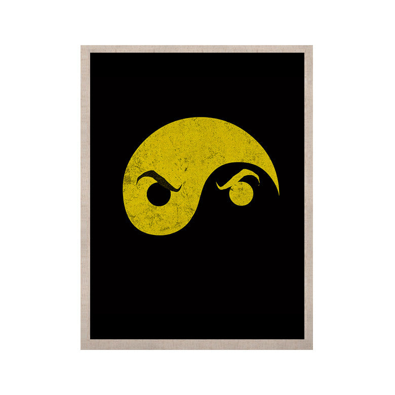 "Frederic Levy-Hadida ""Yin Yang Ninja"" KESS Naturals Canvas (Frame not Included) - KESS InHouse  - 1"
