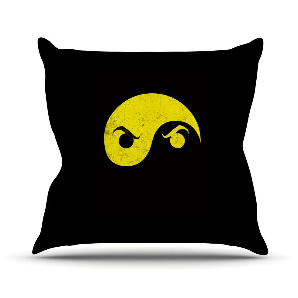 "Frederic Levy-Hadida ""Yin Yang Ninja"" Outdoor Throw Pillow - KESS InHouse  - 1"