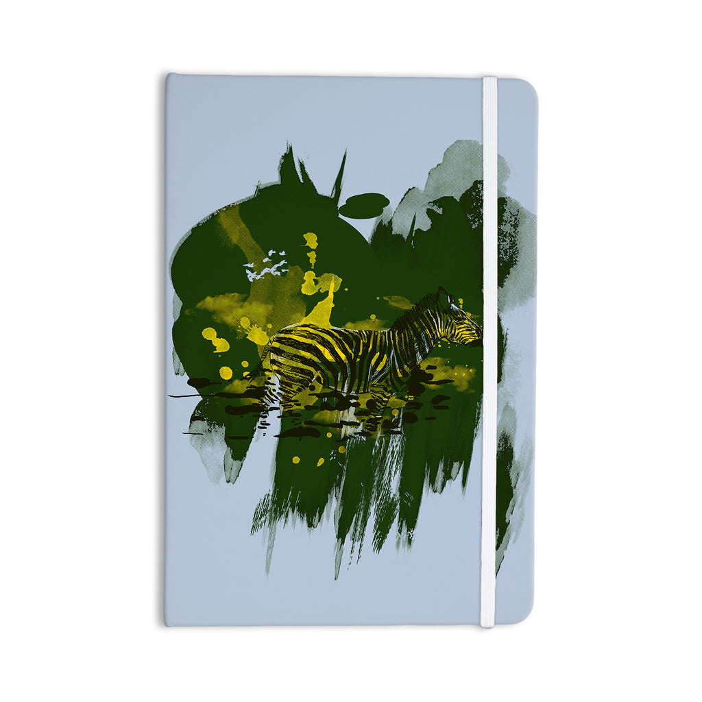 "Frederic Levy-Hadida ""Watercolored Green"" Zebra Everything Notebook - KESS InHouse  - 1"