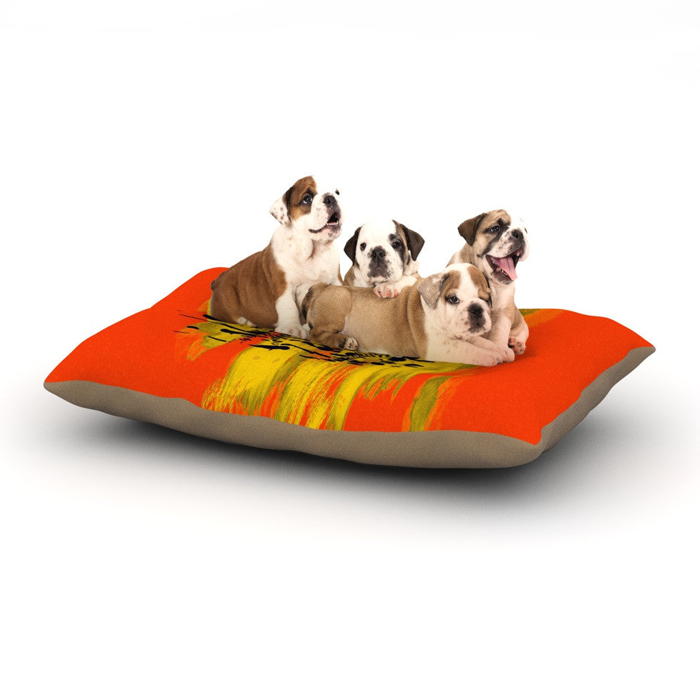 "Frederic Levy-Hadida ""Watercolored Red"" Zebra Dog Bed - KESS InHouse  - 1"