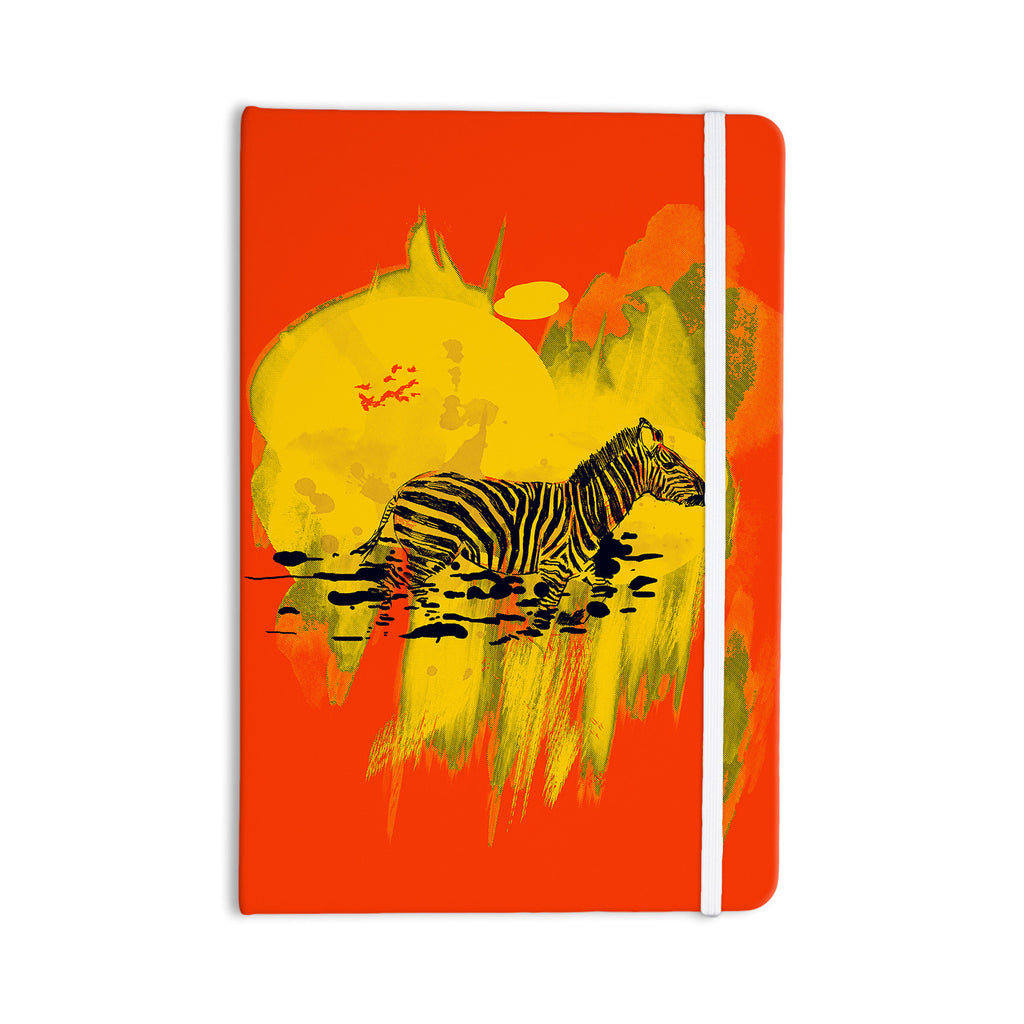 "Frederic Levy-Hadida ""Watercolored Red"" Zebra Everything Notebook - KESS InHouse  - 1"