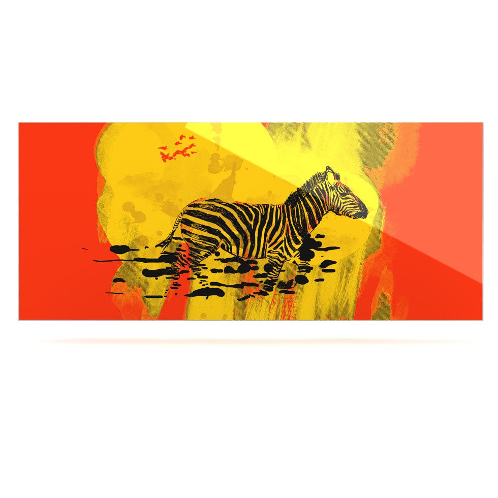 "Frederic Levy-Hadida ""Watercolored Red"" Zebra Luxe Rectangle Panel - KESS InHouse  - 1"