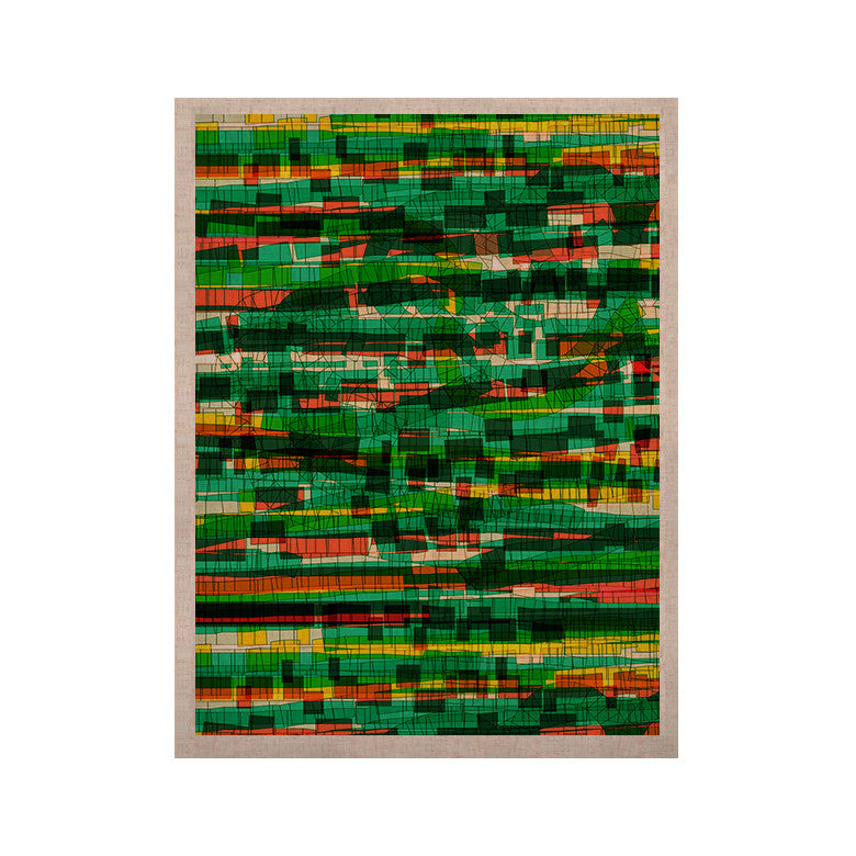 "Frederic Levy-Hadida ""Squares Traffic Green"" KESS Naturals Canvas (Frame not Included) - KESS InHouse  - 1"