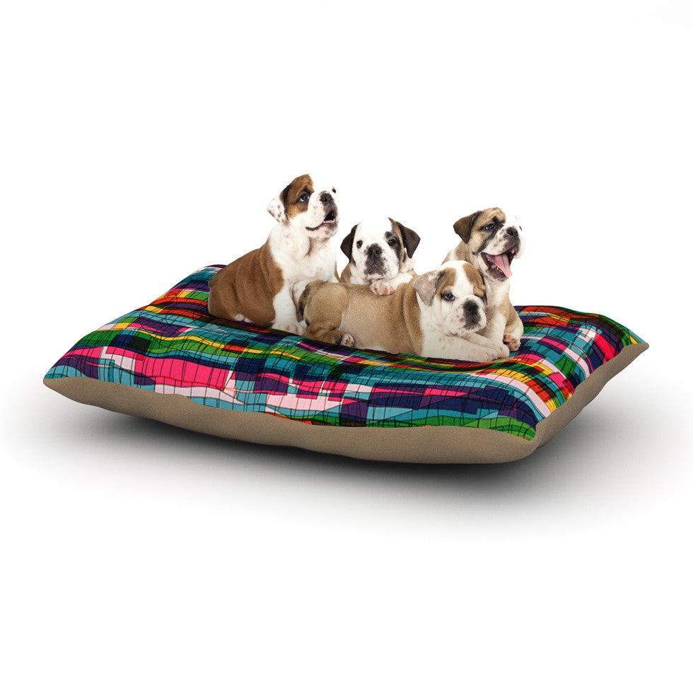 "Frederic Levy-Hadida ""Squares Traffic Pastel"" Dog Bed - KESS InHouse  - 1"