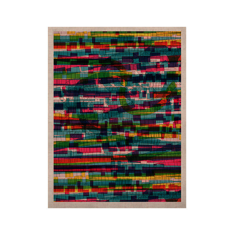"Frederic Levy-Hadida ""Squares Traffic Pastel"" KESS Naturals Canvas (Frame not Included) - KESS InHouse  - 1"