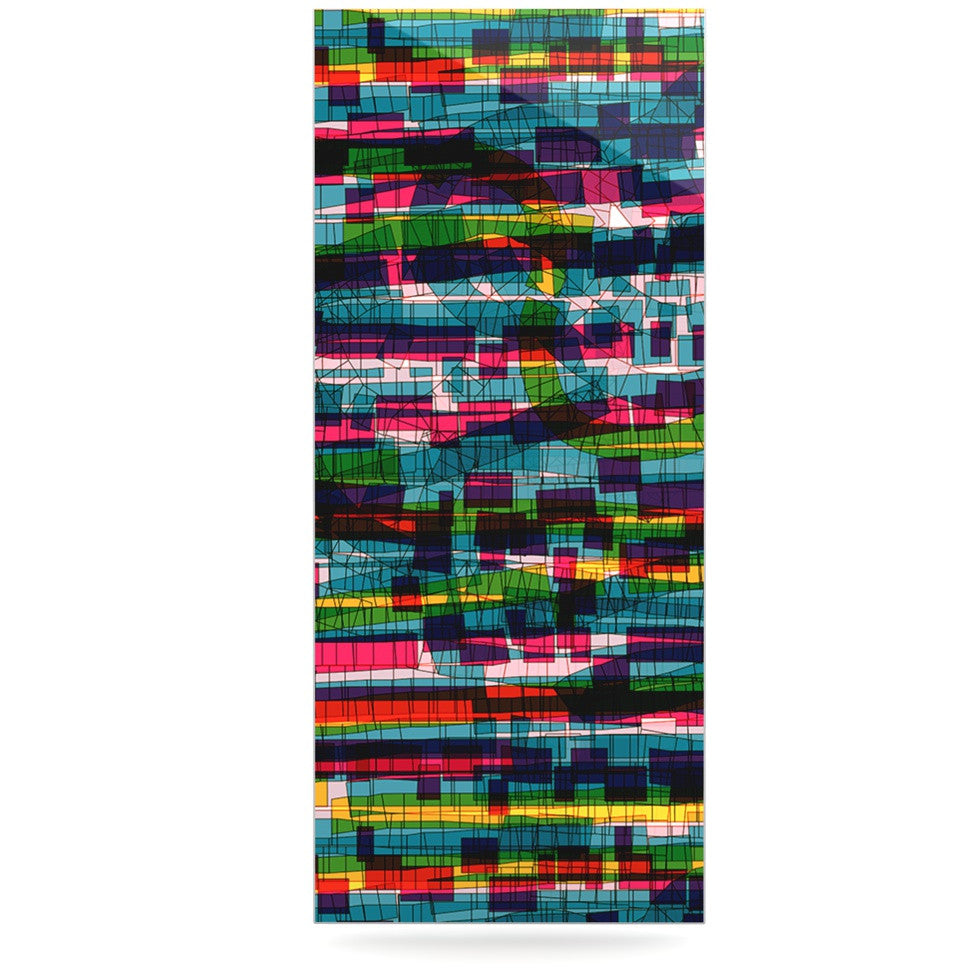 "Frederic Levy-Hadida ""Squares Traffic Pastel"" Luxe Rectangle Panel - KESS InHouse  - 1"