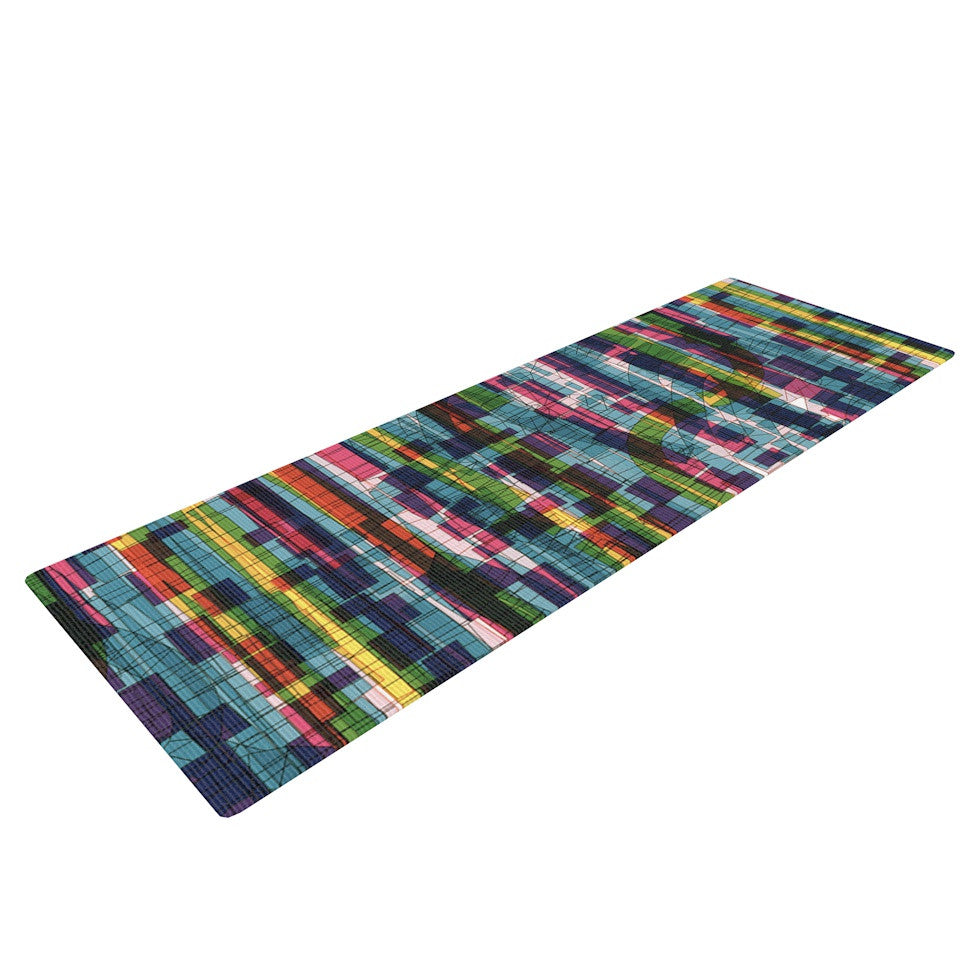 "Frederic Levy-Hadida ""Squares Traffic Pastel"" Yoga Mat - KESS InHouse  - 1"