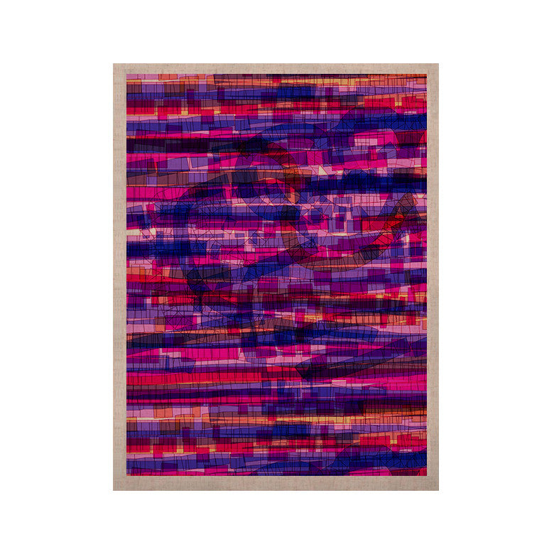 "Frederic Levy-Hadida ""Squares Traffic Pink"" KESS Naturals Canvas (Frame not Included) - KESS InHouse  - 1"