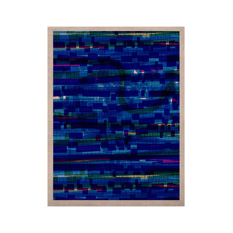 "Frederic Levy-Hadida ""Squares Traffic Blue"" KESS Naturals Canvas (Frame not Included) - KESS InHouse  - 1"