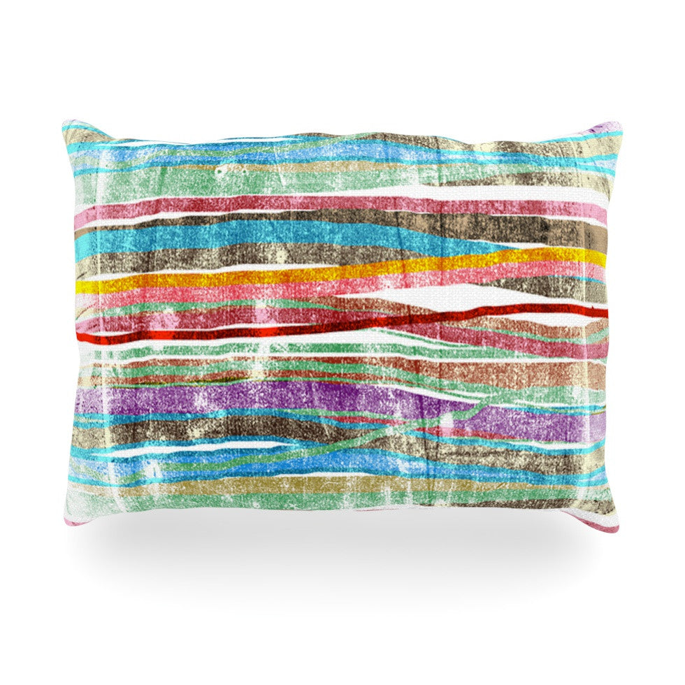 "Frederic Levy-Hadida ""Fancy Stripes Light"" Oblong Pillow - KESS InHouse"