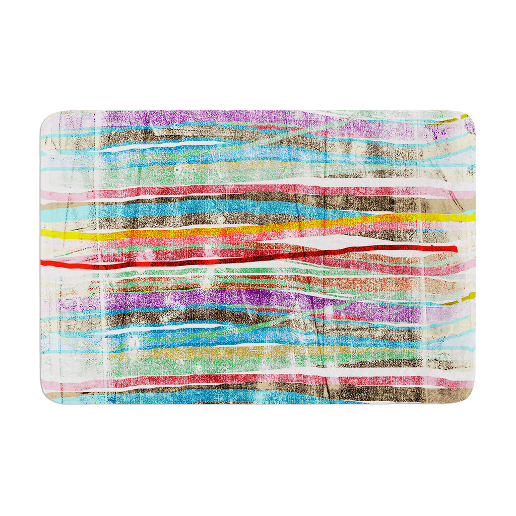 "Frederic Levy-Hadida ""Fancy Stripes Light"" Memory Foam Bath Mat - KESS InHouse"