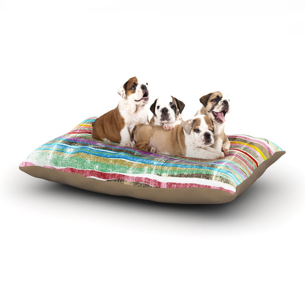 "Frederic Levy-Hadida ""Fancy Stripes Light"" Dog Bed - KESS InHouse  - 1"