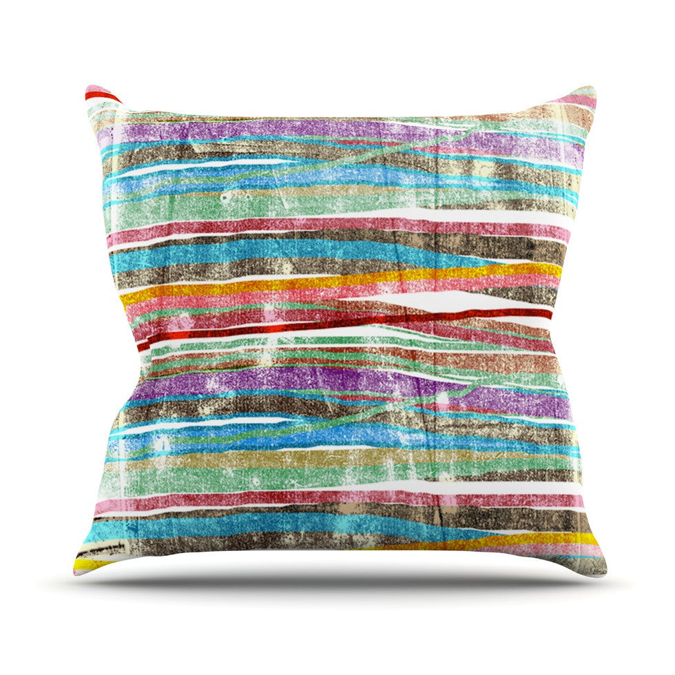 "Frederic Levy-Hadida ""Fancy Stripes Light"" Outdoor Throw Pillow - KESS InHouse  - 1"