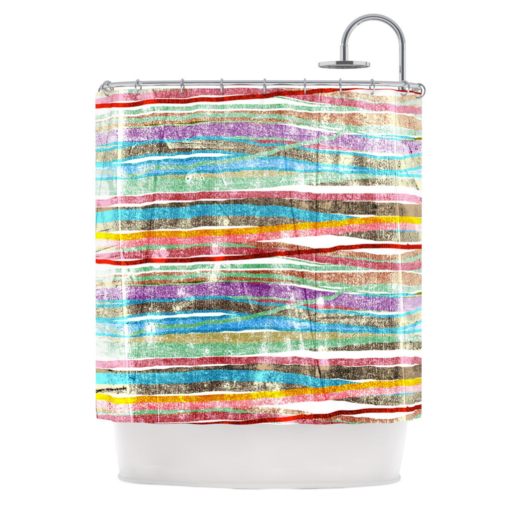 "Frederic Levy-Hadida ""Fancy Stripes Light"" Shower Curtain - KESS InHouse"