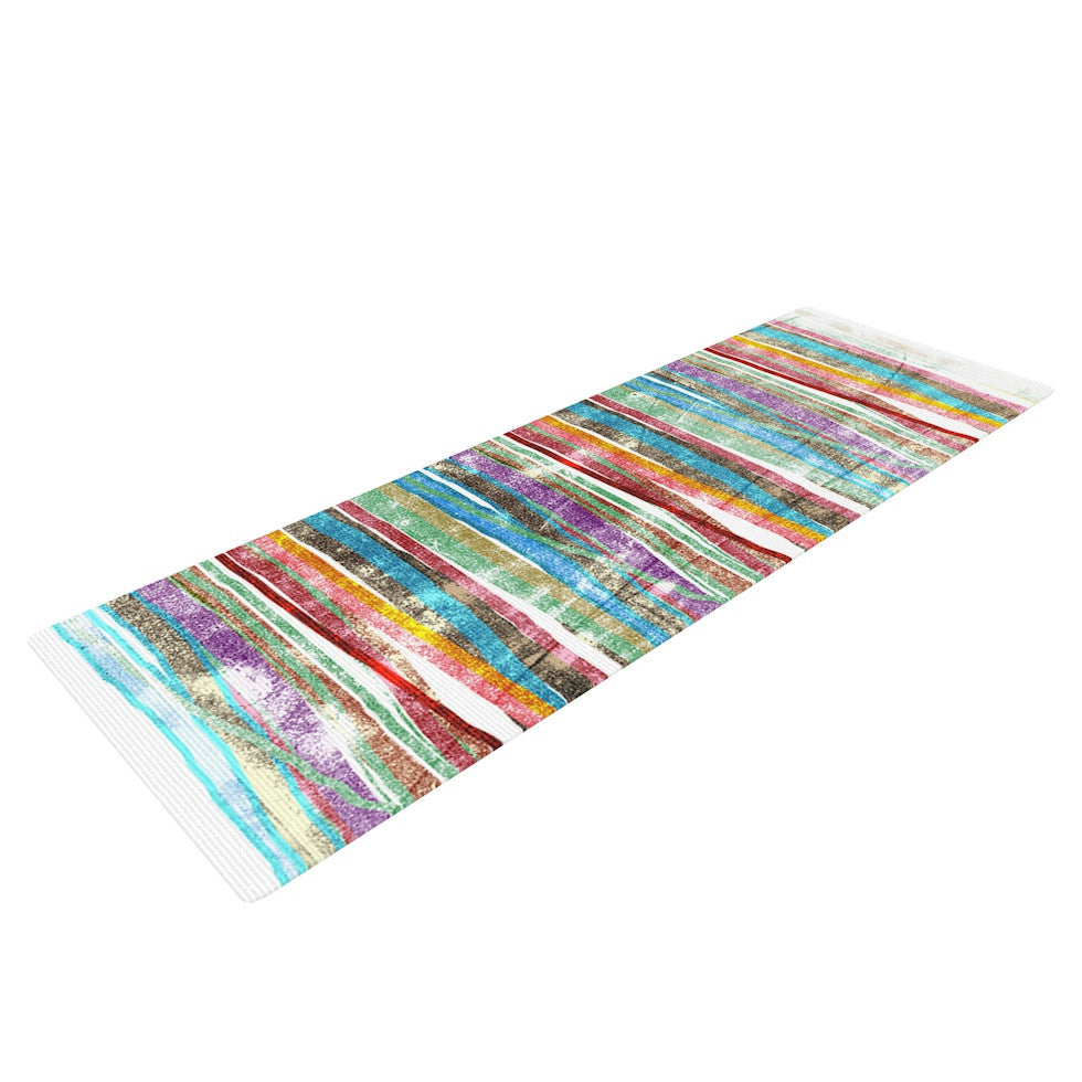 "Frederic Levy-Hadida ""Fancy Stripes Light"" Yoga Mat - KESS InHouse  - 1"