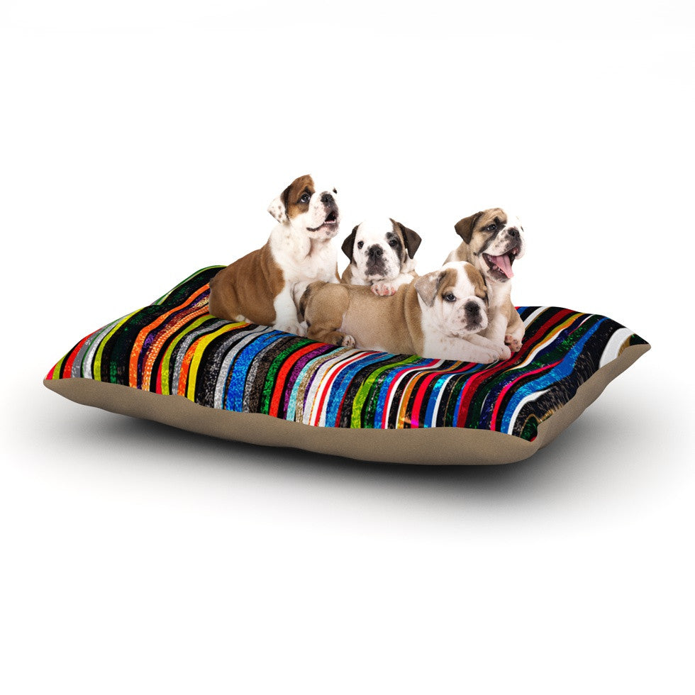 "Frederic Levy-Hadida ""Fancy Stripes Dark"" Dog Bed - KESS InHouse  - 1"