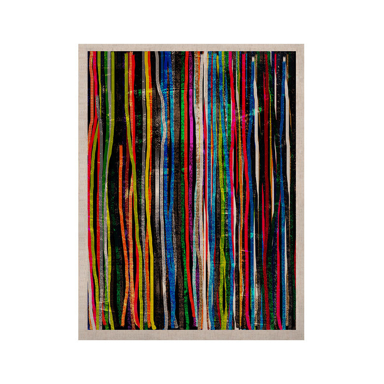 "Frederic Levy-Hadida ""Fancy Stripes Dark"" KESS Naturals Canvas (Frame not Included) - KESS InHouse  - 1"
